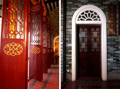 The Chinese wooden doors versus the Western arch door