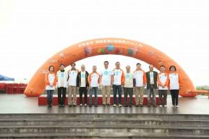 九龍樂善堂主席梁紹安先生、常務總理會成員聯同主禮嘉賓及主禮團嘉賓一起合照。