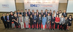 Group photo with Guests of Honours, Keynote and Plenary Speakers, Supporting Organization, Sponsors, Board of Directors of Tung Wah Group of Hospitals and representatives of the Co-organizers