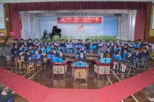 圖三、圖四及圖五為東華三院辛亥年總理中學學生們於三十五周年校慶典禮上的精彩表演。