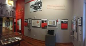 图一 ﹕东华三院历史资料和文物于华美博物馆内展出,展现昔日香港、东华三院及海外华人的连系。