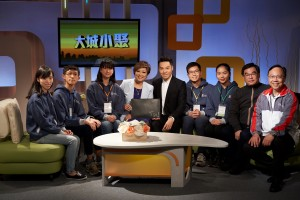 TWGHs Student Ambassadors visited Fairchild TV and participated in an interview programme with Mr. Vinci WONG, the Chairman cum Honorary Supervisor of TWGHs, while getting to know the local media and creative industry.
