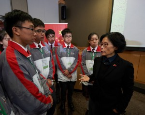 TWGHs Student Ambassadors paid a visit to the Consulate-General of the People's Republic of China in Vancouver and met with Ms. TONG Xiaoling, Consul General of the Consulate-General of the People's Republic of China in Vancouver.