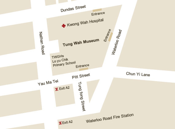 Location Map of Tung Wah Museum