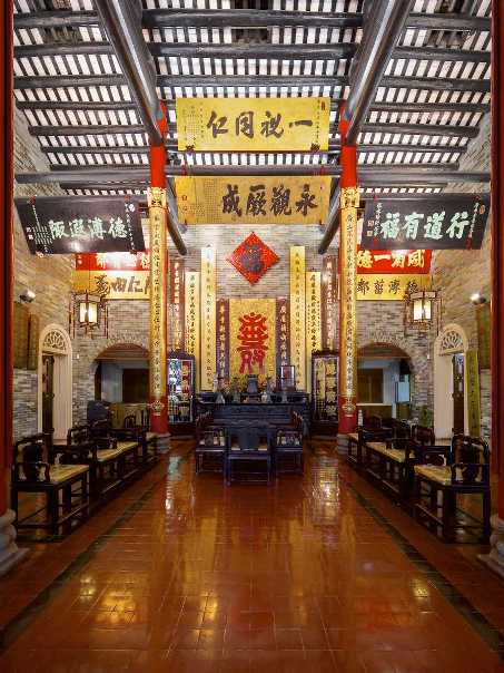 Ceremonial features of the main hall of Tung Wah Museum