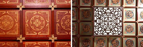 東華三院文物館富中國傳統色彩的天花裝飾