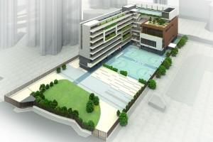 東華三院馬錦燦紀念小學新校舍設計圖。