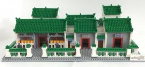 東華三院文武廟積木,比例為1:87、實物尺寸32cm(闊) x 19cm(深) x 12cm(高)、 重量0.72公斤。