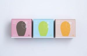 iBakery全新產品「焙茶、抹茶、柚子手工貝殼蛋糕」的包裝設計。