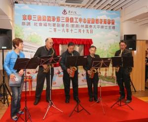 第三齡人士在開幕禮上的精彩表演。