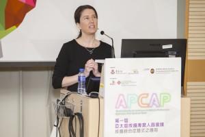 哈佛醫學院成癮研究中心副總監Dr. Heather M. Gray在「第一屆亞太區成癮專業人員協會會議」上講解成癮綜合症之臨床應用。