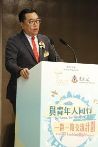 1.東華三院主席兼名譽校監李鋈麟博士太平紳士致歡迎辭。