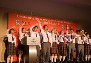 学生大使于展览晚宴上作沙画及无伴奏合唱表演,使晚宴更添艺术气息。