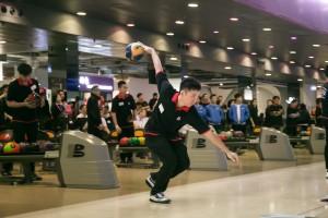 圖四為世界保齡球錦標賽2017獎牌得主胡兆康先生MH作球技表演及教授球技,令嘉賓們獲益不淺。
