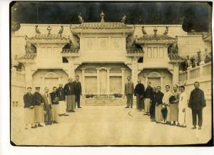 1923年「馬場先難友紀念碑」開幕典禮的照片