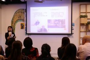 東華三院圓滿人生服務經理周淑娟女士介紹關注「腦」朋友計劃。