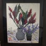 《奼紫嫣紅》油畫