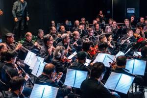 「E大調合奏團」落力演出,奏出多首經典樂曲。