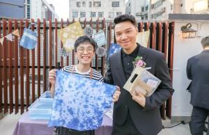 圖五為東華三院主席王賢誌先生參觀扎染攤位,了解該空間定期舉辦的居民聯誼活動。