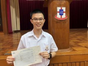 圖一為東華三院呂潤財中學中六學生吳俊熙。