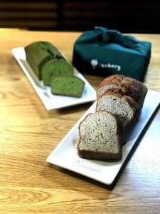 東華三院iBakery馳名的京都抹茶蛋糕(左)和香蕉蛋糕,不容錯過!