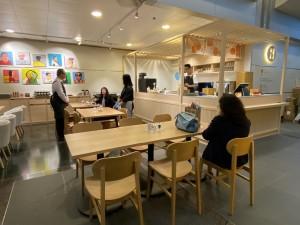 和式設計的iBakery灣仔新店設有50個座位,為顧客提供舒適的堂食空間。