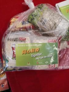 圖十:東華三院將分3階段派發合共約3萬個食物包予東九龍區公共屋邨的獨居長者或雙老家庭。