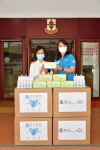 嘉華國際「一嘉人」義工隊運送專業醫用口罩至不同社福機構,包括贈予東華三院馮堯敬醫院供醫護人員及院友使用。