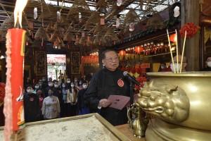 圖一為東華三院甲辰年主席何世柱大紫荊勳賢GBS太平紳士主祭。